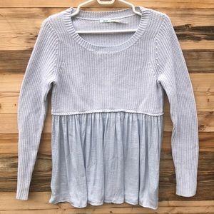 Kimchi Blue | Blue Popover Sweater Medium
